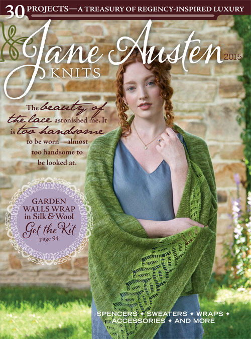 Jane Austen Knitting Patterns : Garden Walls Wrap Kit